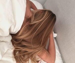 blonde, braid, and bun image