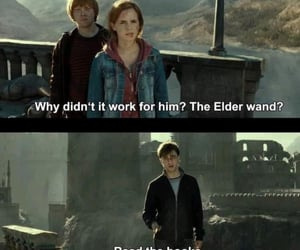 books, ron weasley, and harry potter fun image