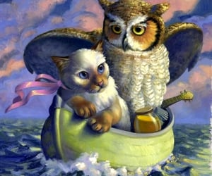 the owl & the pussycat, nonsense poem, and by edward lear image