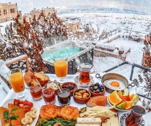 food, travel, and snow image