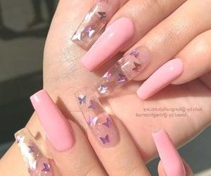 nails, pink, and nails art image