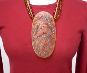 etsy, one of a kind, and statement necklace image