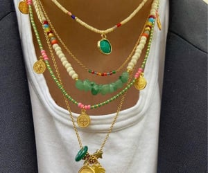 accessories, summer, and beaded necklaces image