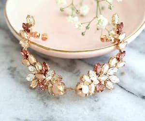 etsy, crystal earrings, and rose gold earrings image