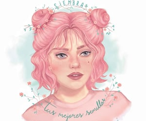 digitalart, ilustracion, and pinkhair image