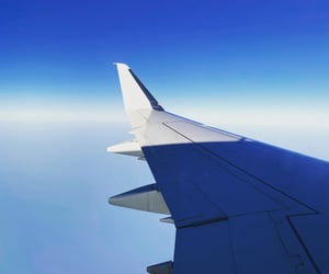 aesthetic, airplane, and blue image