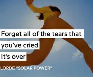 aesthetic, ️lorde, and solar power image