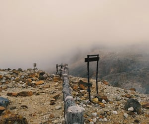 aesthetic, fog, and mountain image