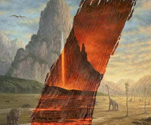 apocalypse, dinosaurs, and painting image