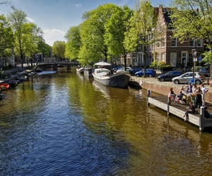 amsterdam, canals, and city image