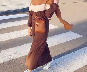 tan dress image