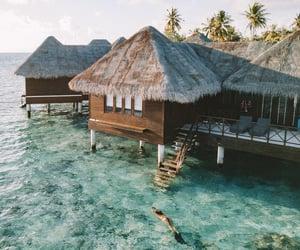 house, Maldives, and mermaid image