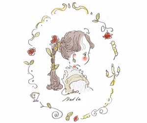 art, belle, and beauty and the beast image