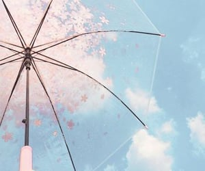 aesthetic, pastel, and umbrella image