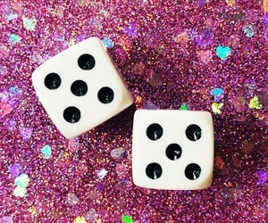 aesthetic, dice, and glitter image