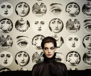 Anne Hathaway and face image