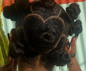 hair, hairstyles, and bantu knots image