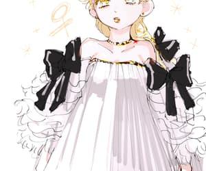 bows, dress, and giorno giovanna image