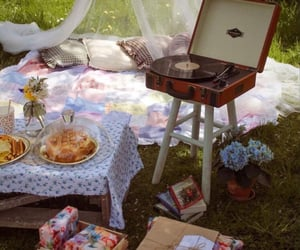countryside, picnic, and spring image