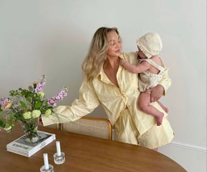baby, fashion, and flowers image