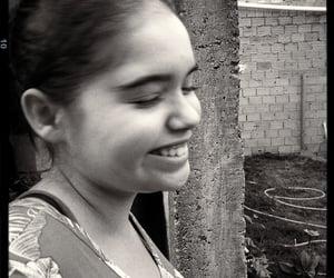 blackandwhite, girl, and happy image