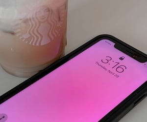 aesthetic, cell phone, and coffee image