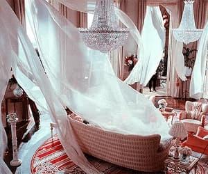 chandelier, decor, and diamond image