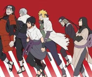 akatsuki, sasuke uchiha, and orochimaru image