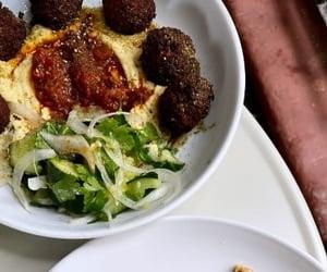 brunch, butter, and falafel image