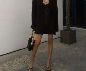 black, blazer, and dress image
