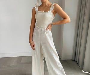 H&M, summer, and linen jumpsuit image