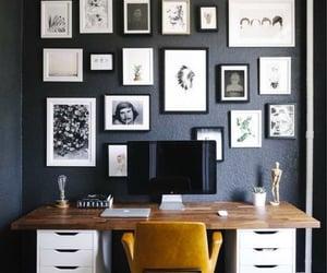 decor, home office, and interior design image