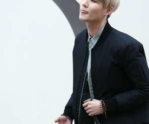 blonde hair, brian, and busking image