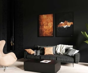 home, living room, and dark interiors image