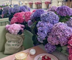 flowers, coffee, and coffee break image