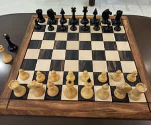 luxury chess pieces, premium chess sets, and handmade chess pieces image