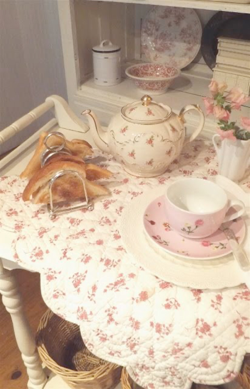 aesthetic, tea party, and vintage image