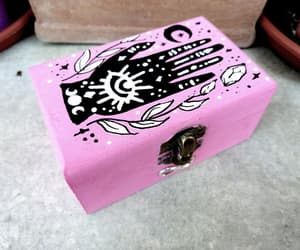 etsy, wooden box, and good vibes image