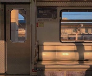 aesthetic and train image