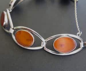 etsy, silver bracelet, and modernist bracelet image