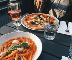 date, food, and pizza image