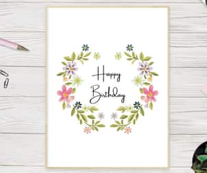 birthday girl, etsy, and watercolor flowers image