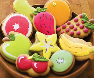 Cookies, fruit, and food image