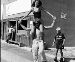 70s, black and white, and skate image