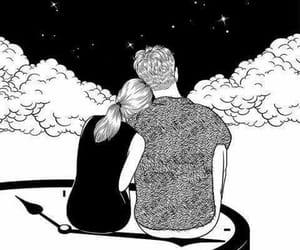 amor, hug, and Noche image