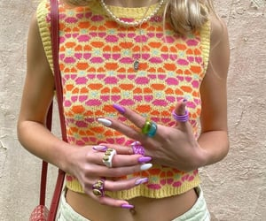 accessories, knitwear, and nails image