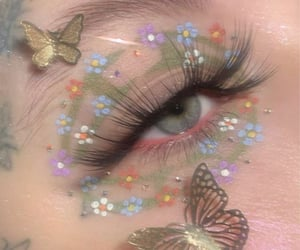 makeup, butterfly, and eyes image