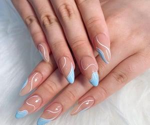 acrylics, woman, and acrylic nails image