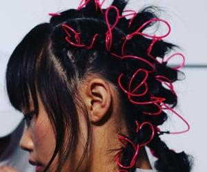 accessories, dark hair, and fashion image