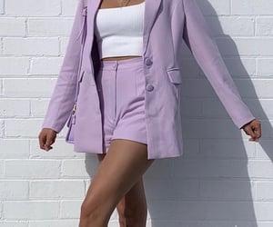 fashion, lilac, and blazer image